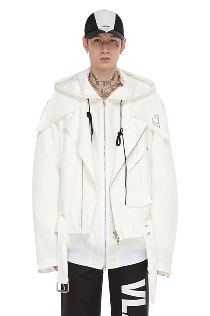 LOOSE FIT RIDER JACKET (WHITE)