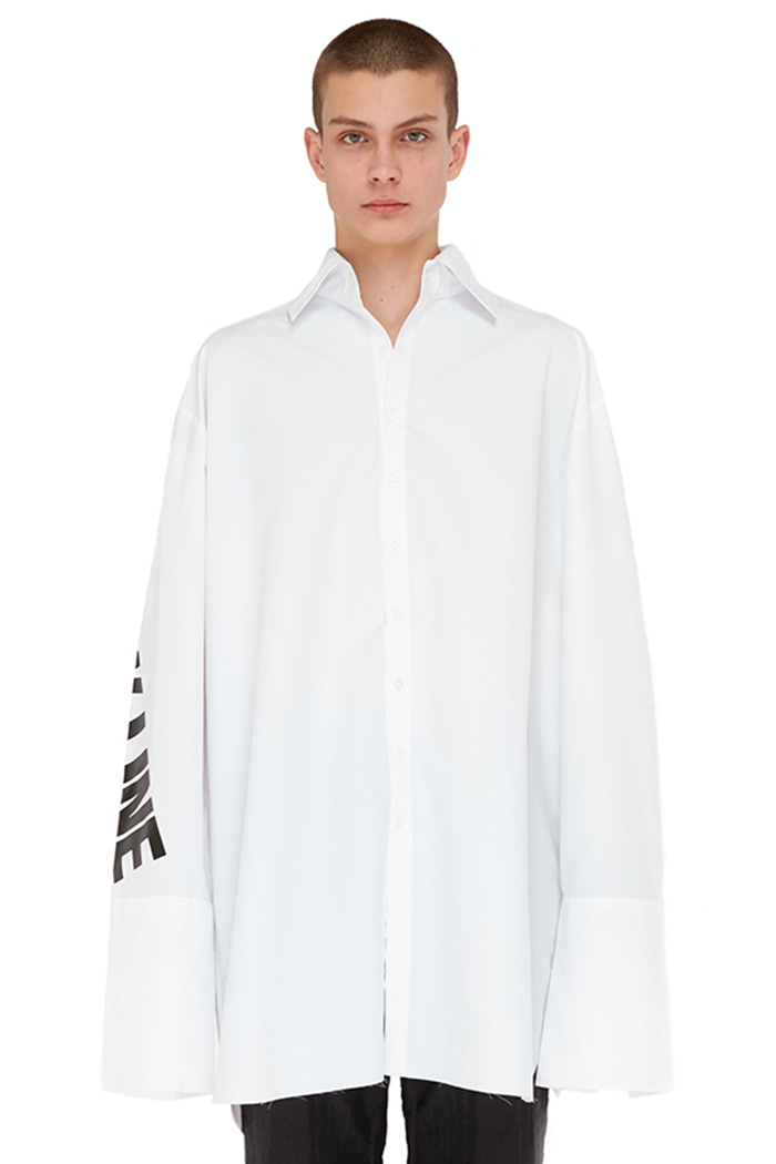 OVER CUFFS SHIRT (WHITE)