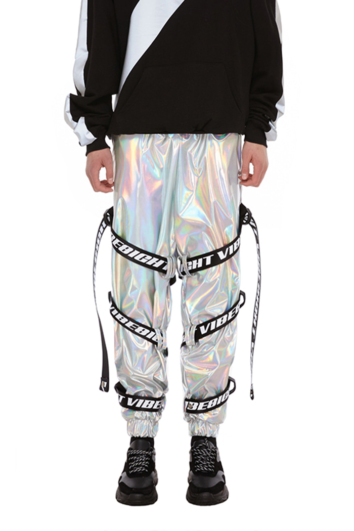 WEBBING POINT CARGO PANTS (HOLOGRAM)