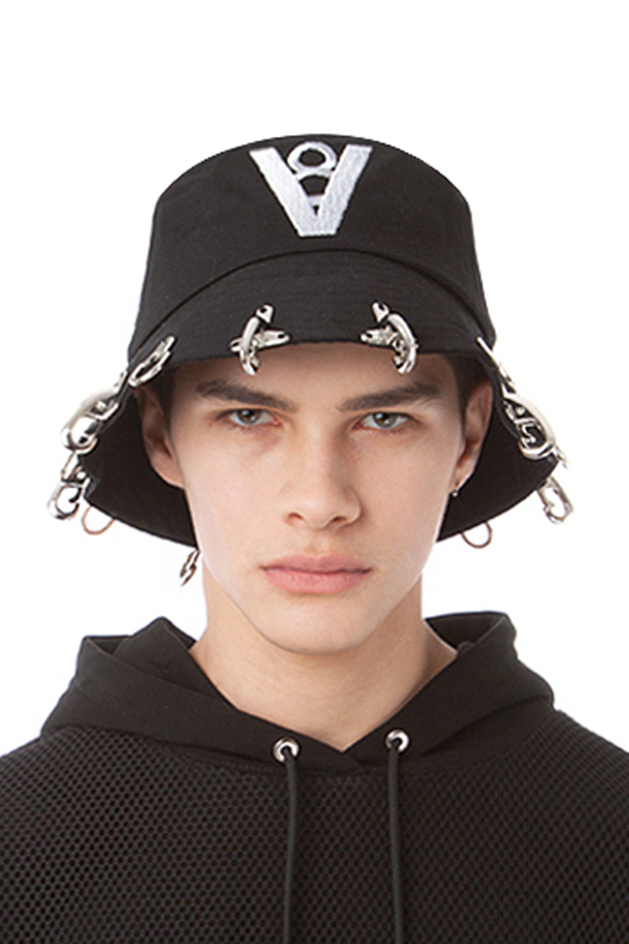 FIREFIGHTING HOOK BUCKET HAT NO.2 (BLACK)