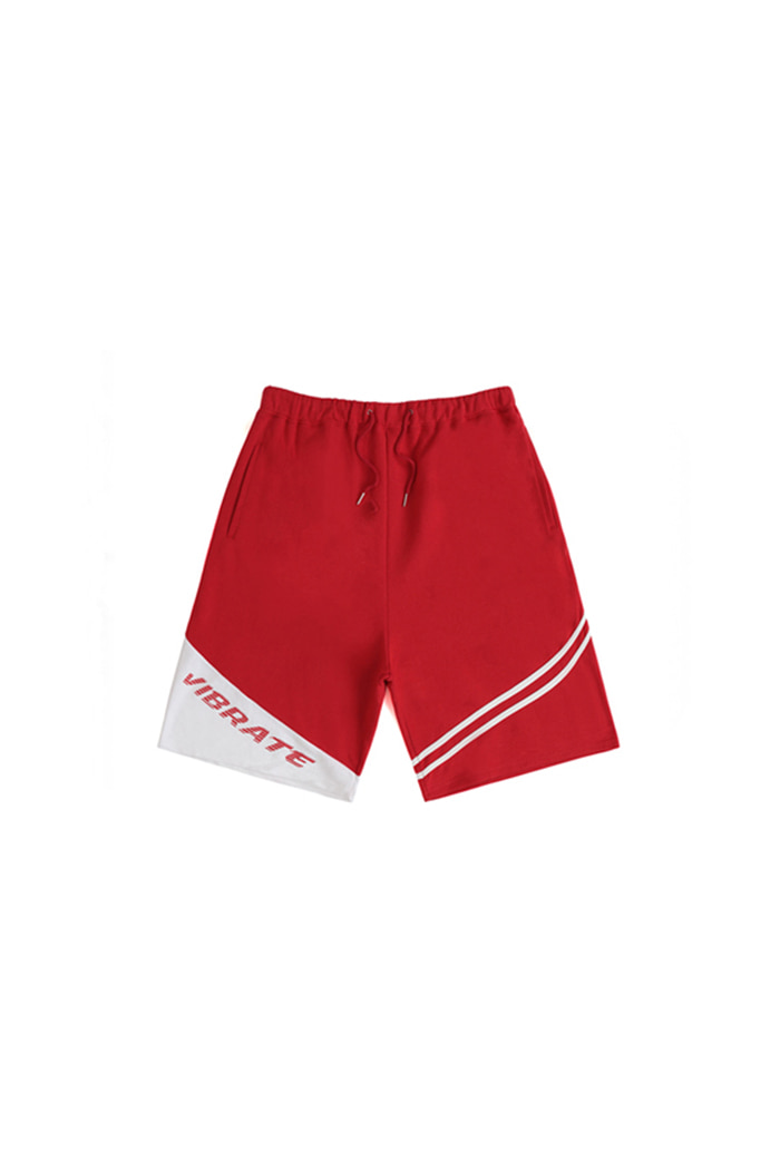 SHADE LOGO SHORT PANTS (RED)