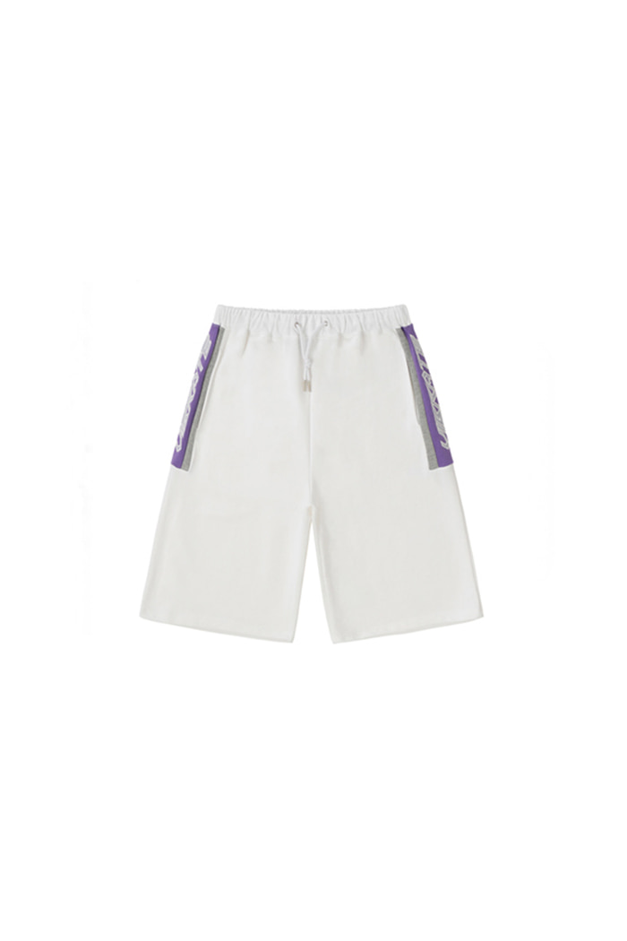 HONEYCOMB LOGO SHORT PANTS (WHITE)
