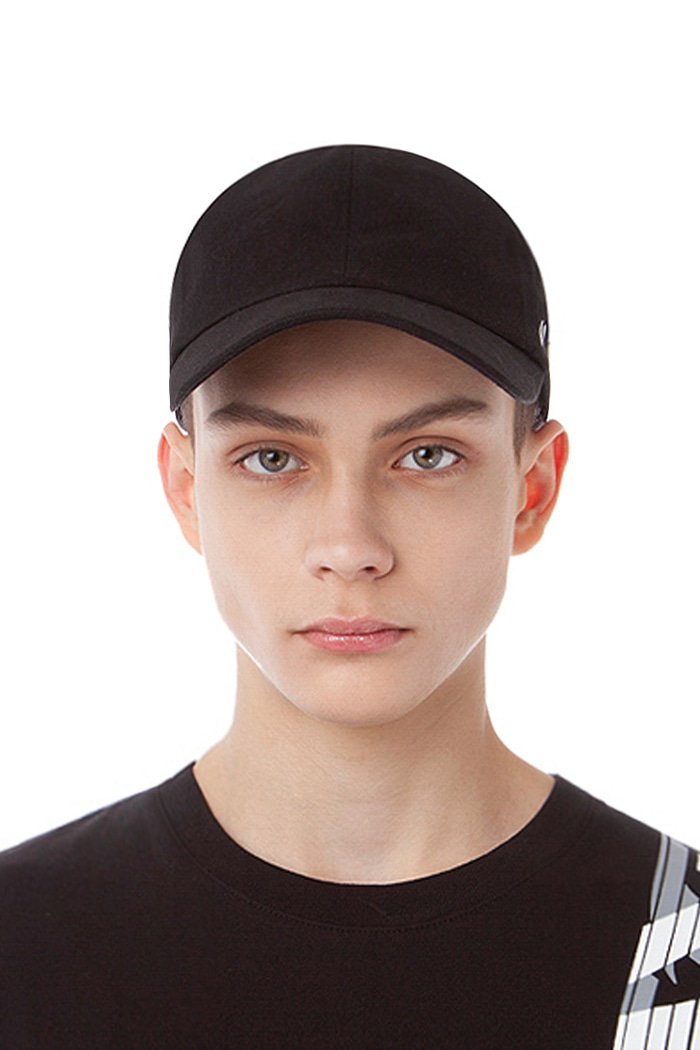 REAL COTTON BALL CAP (BLACK)