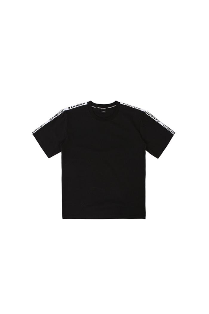 BASIC LOGO WEBBING TAPE T-SHIRT (BLACK)