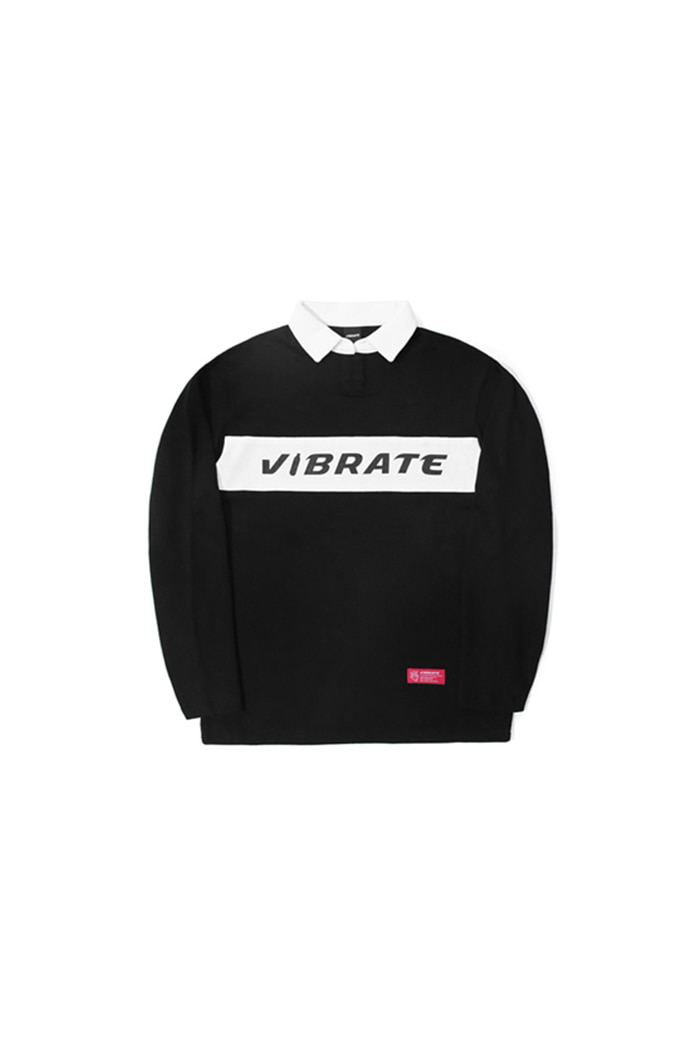 BOTTLE LOGO POLO SHIRT (BLACK)
