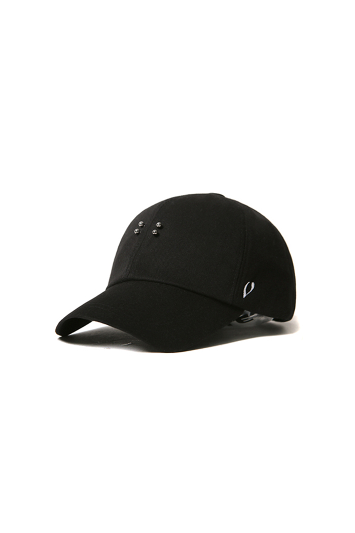 BASIC PIERCING BALL CAP (BLACK)