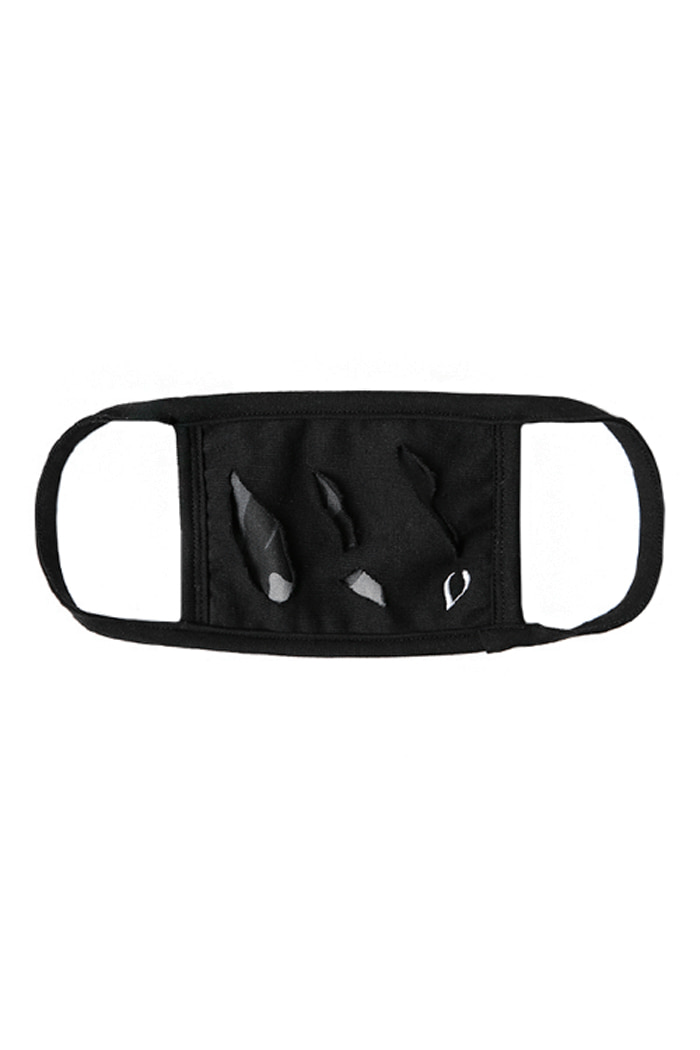 DAMAGE CAMO MASK (BLACK)