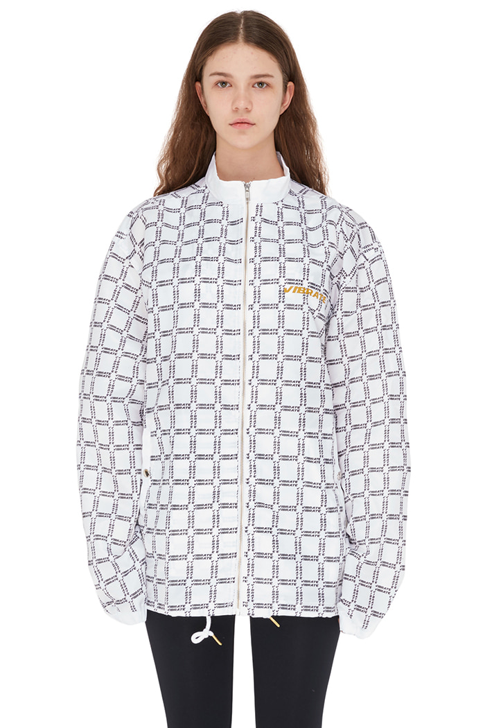 SQUARE LOGO TRACK JACKET (WHITE)