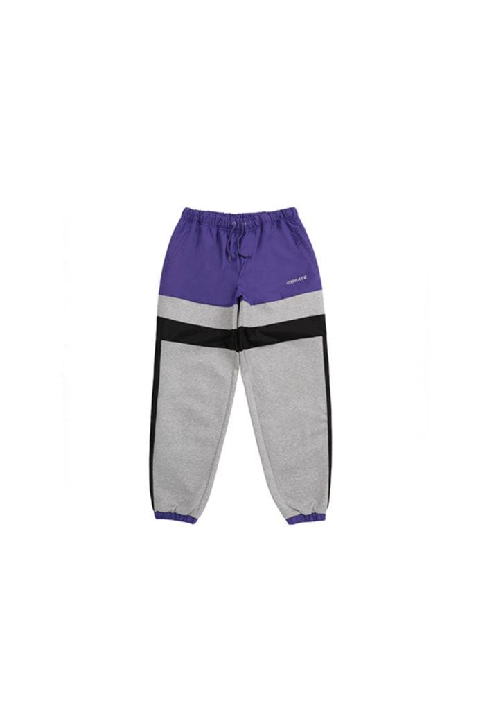 LINE COLOR SCHEME JOGGER PANTS (PURPLE&GRAY)