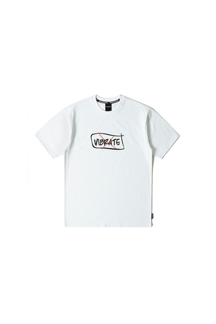CURVED BORDER T-SHIRT (WHITE)
