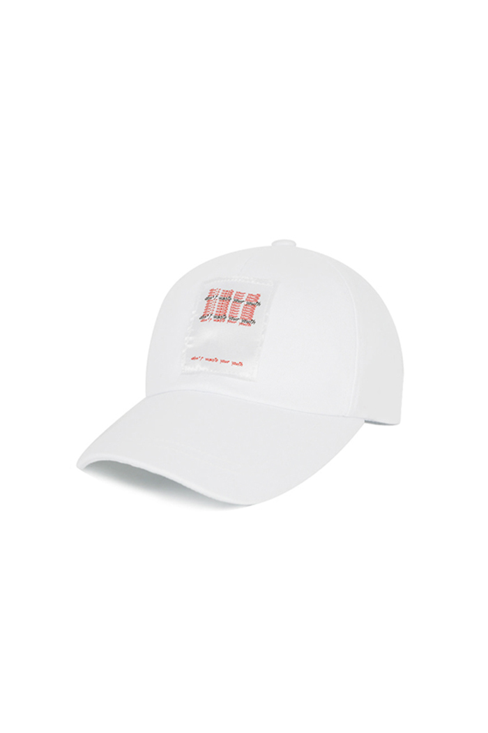 LETTERING PATCH BALL CAP (WHITE)