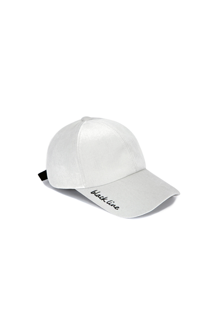 VELVET BALL CAP (WHITE)
