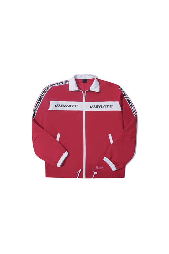 LOGO STRAP COACH JACKET (RED)