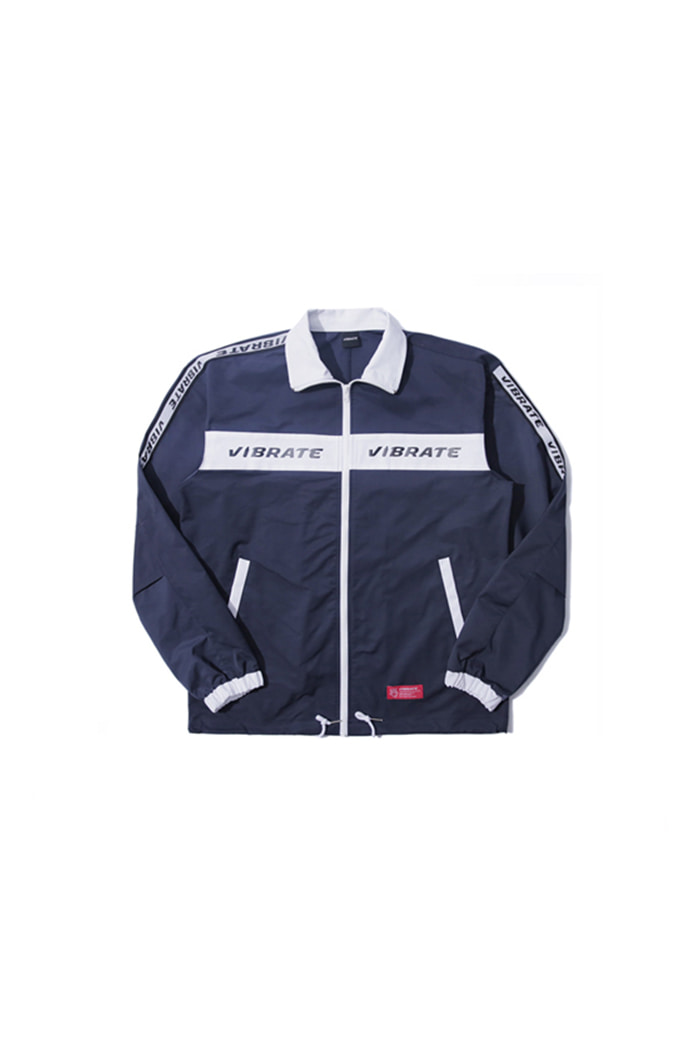 LOGO STRAP COACH JACKET (NAVY)