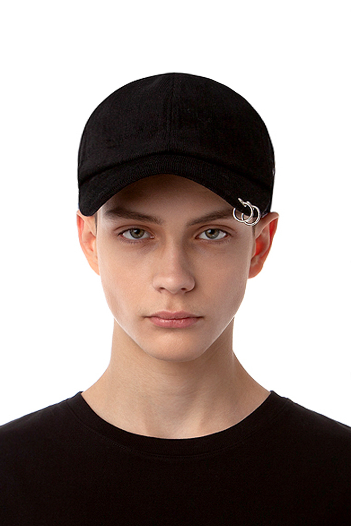 CORDUROY BASIC BALL CAP (BLACK)