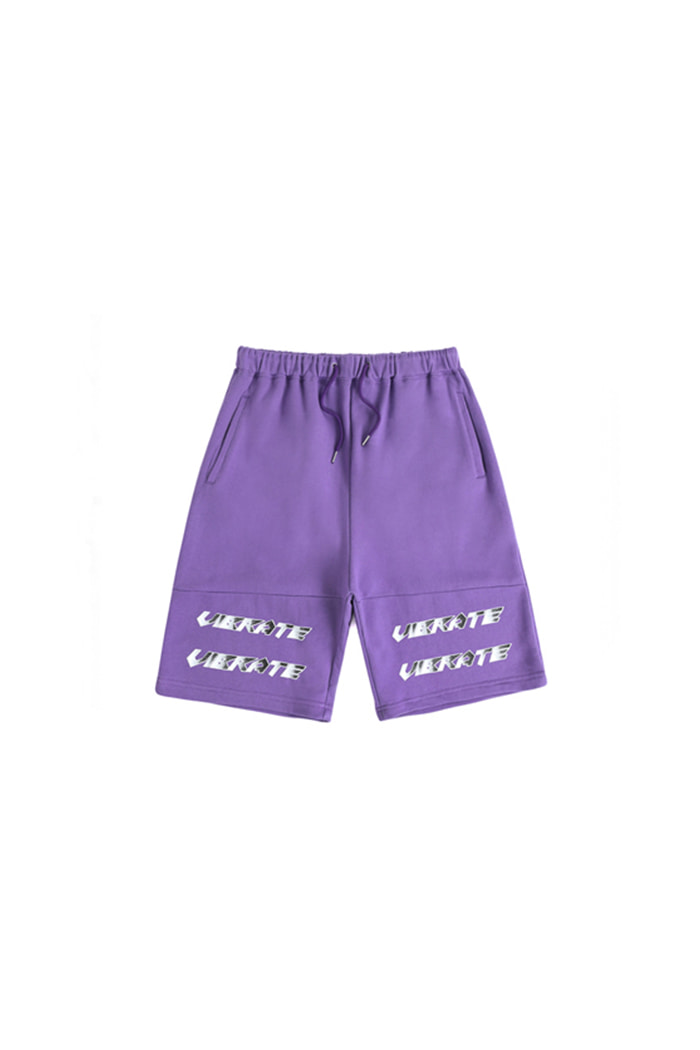 LAYERED LOGO SHORT PANTS (PURPLE)