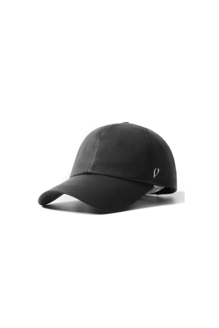 COTTON OIL BALL CAP (BLACK)