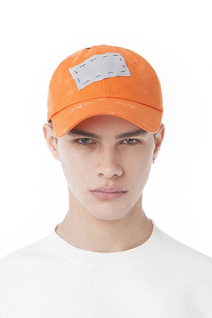 SCOTCH PATCH BALL CAP (ORANGE)