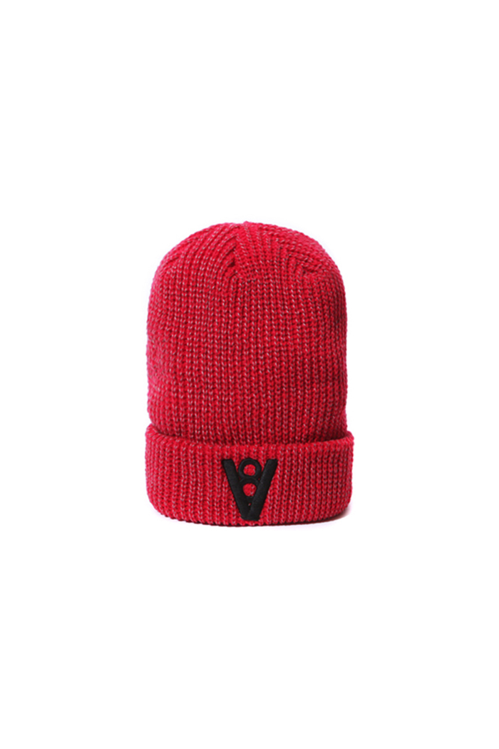 REFLECTING LOGO BEANIE (RED)