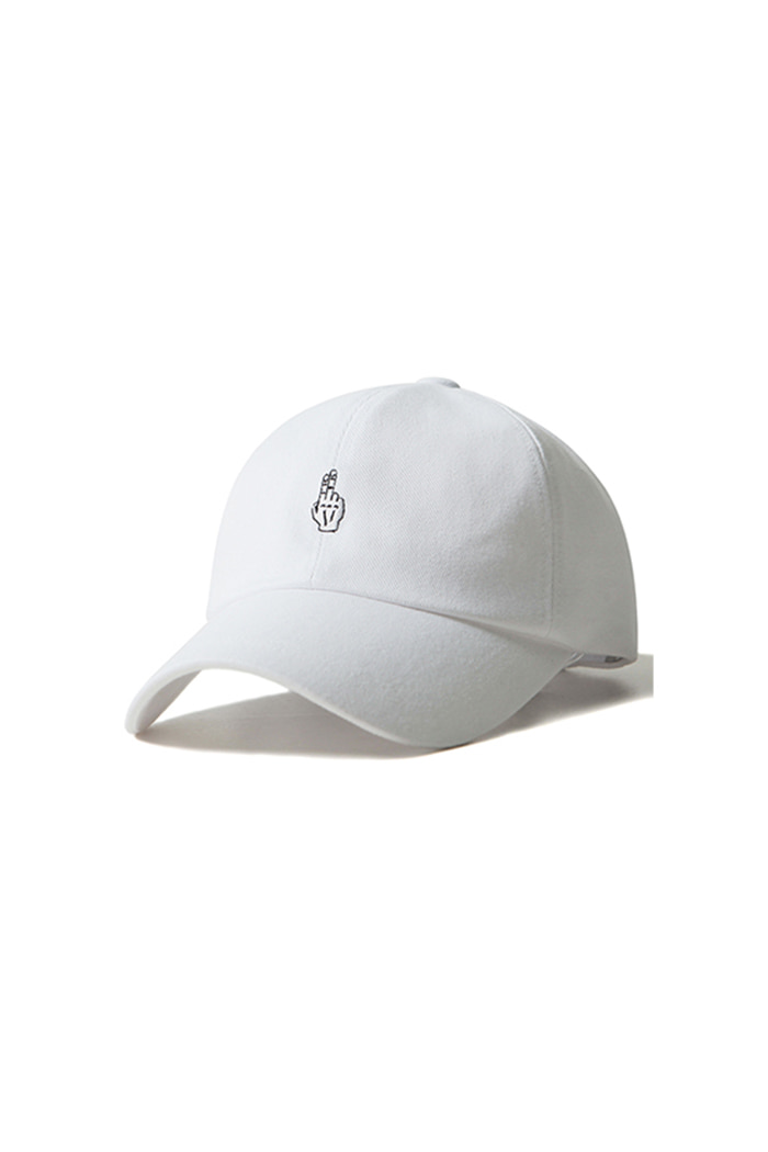 FINGER BALL CAP (WASHING WHITE)