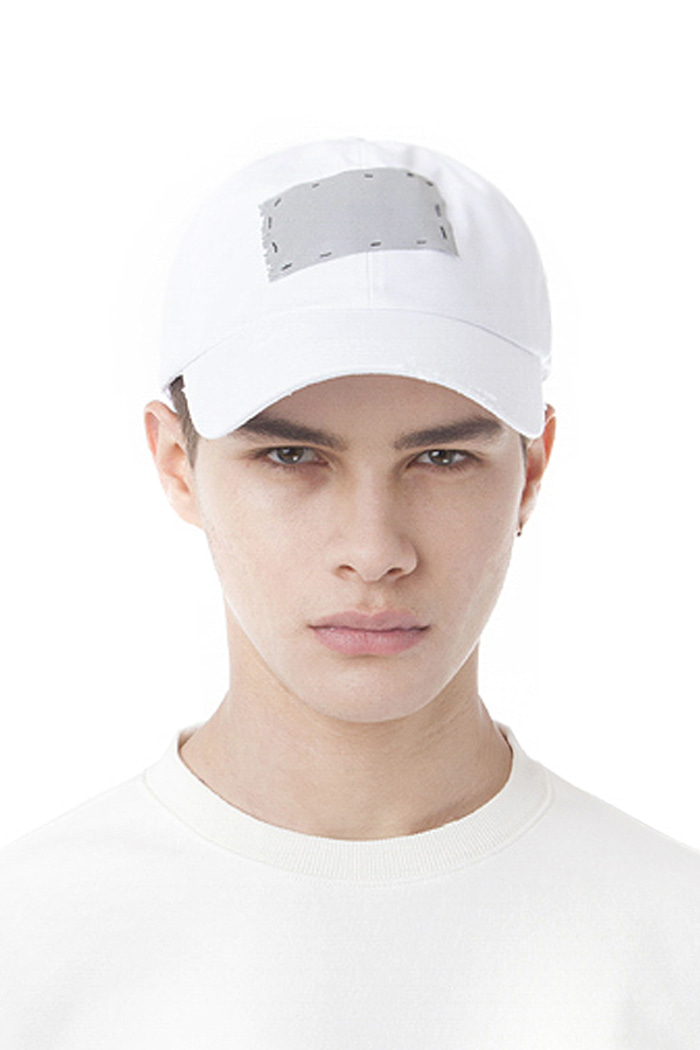 SCOTCH PATCH BALL CAP (WHITE)