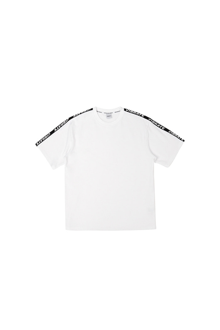 BASIC LOGO WEBBING TAPE T-SHIRT (WHITE)