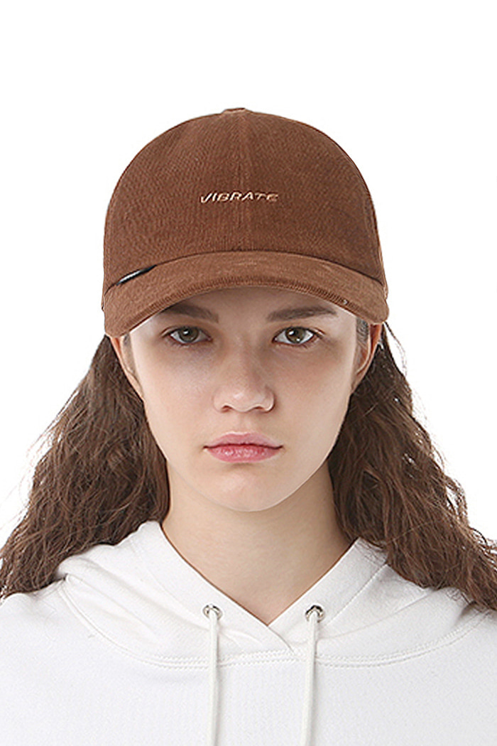 BASIC LINE CORDUROY BALL CAP (BROWN)