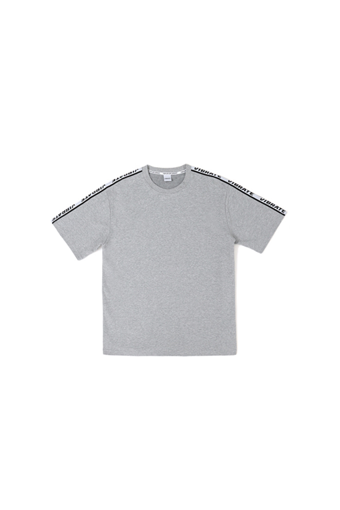 BASIC LOGO WEBBING TAPE T-SHIRT (GRAY)