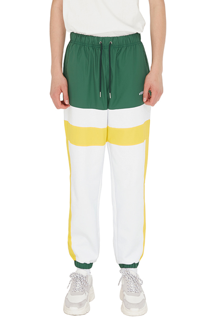 LINE COLOR SCHEME JOGGER PANTS (GREEN&WHITE)