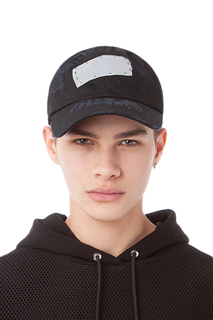 SCOTCH PATCH BALL CAP (BLACK)