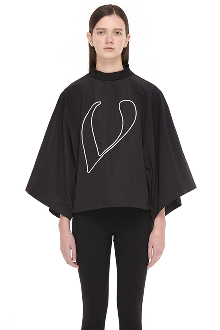 V LOGO LOOSE FIT TOP (BLACK)
