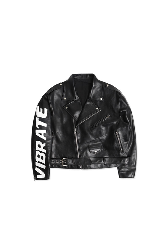 RIDER LEATHER JACKET (BLACK)