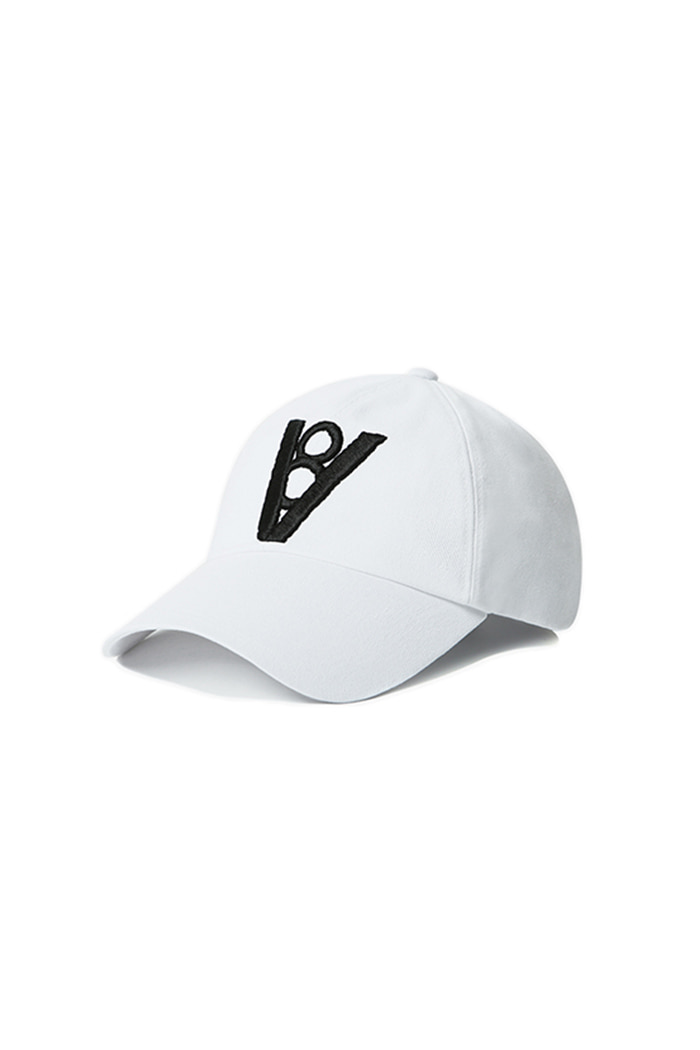 BOLD POINT BALL CAP (WHITE)