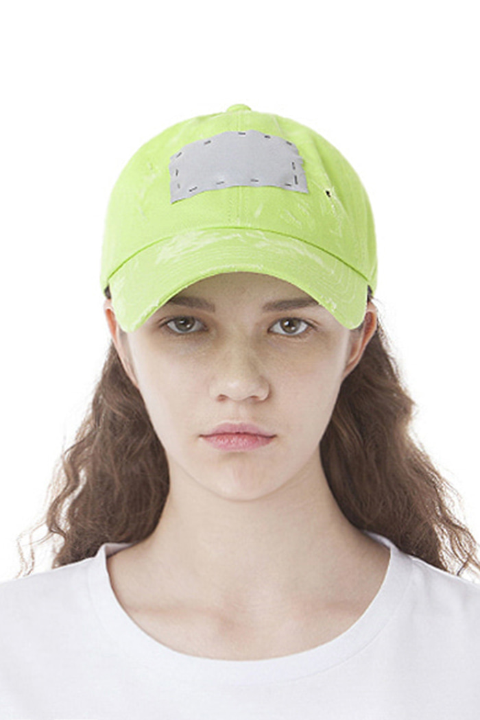 SCOTCH PATCH BALL CAP (YELLOW-GREEN)