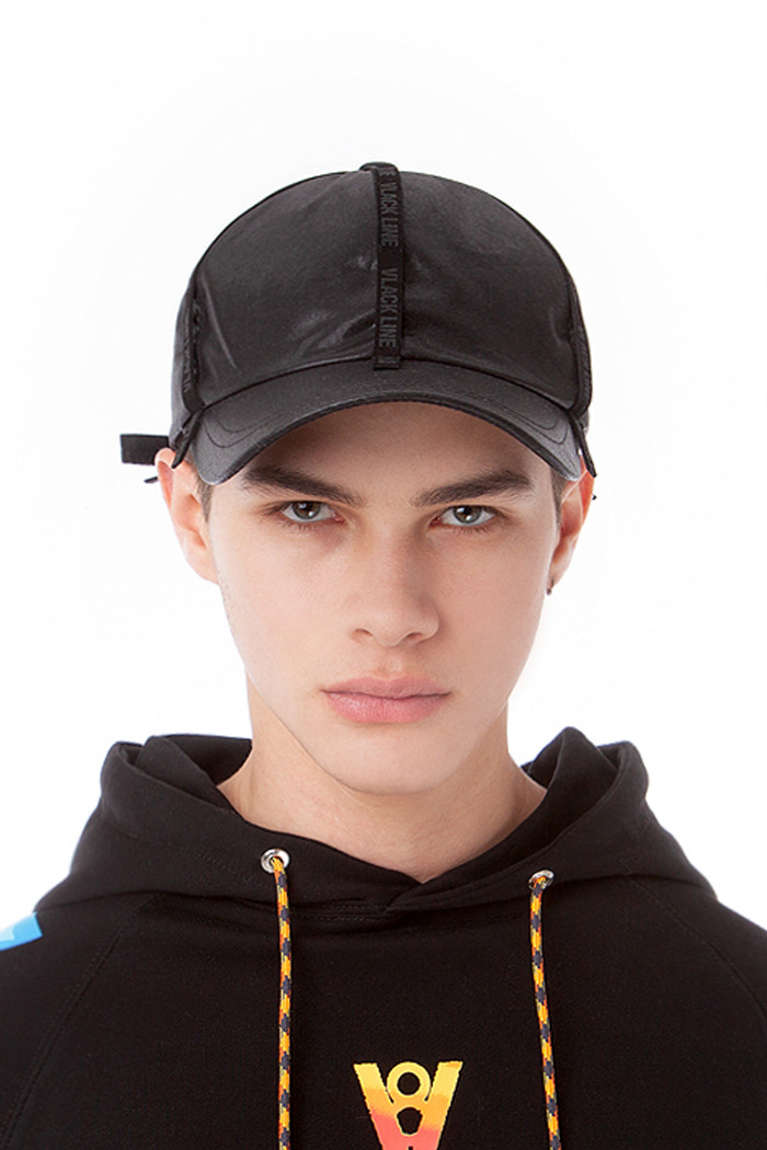 SUEDE TAPE POINT BALL CAP (BLACK)