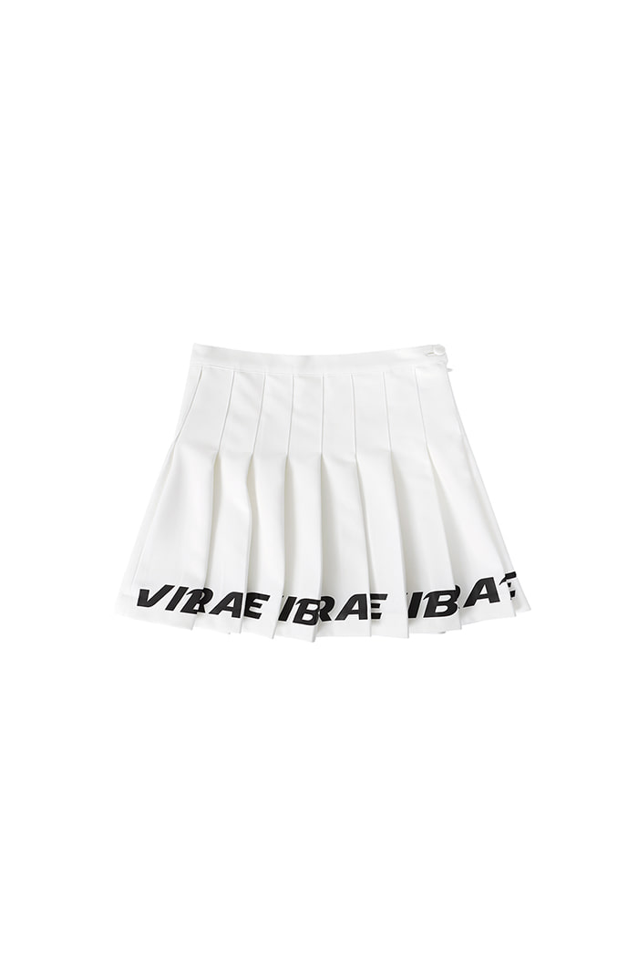 BOTTOM LOGO TENNIS SKIRT (WHITE)