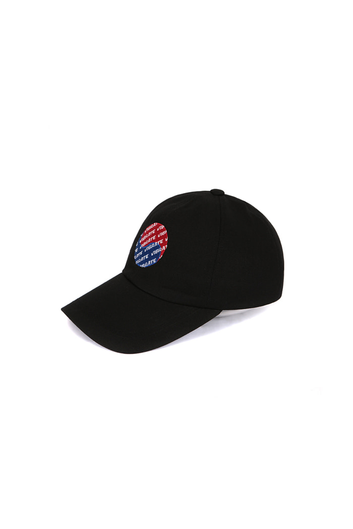 KOREAN FLAG LOGO BALL CAP (BLACK)