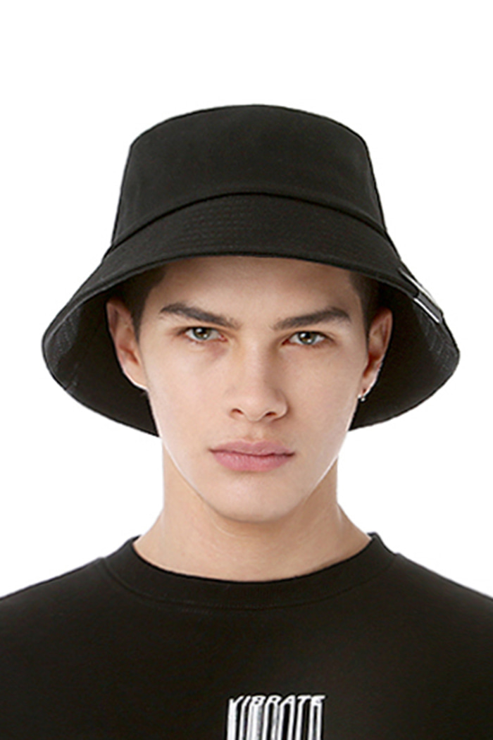 REAL COTTON BUCKET HAT (BLACK)