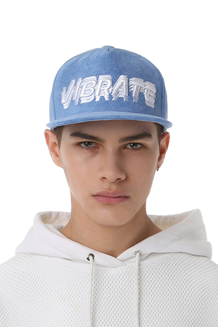 SIGNATURE NAME SNAPBACK (SUEDE BLUE)