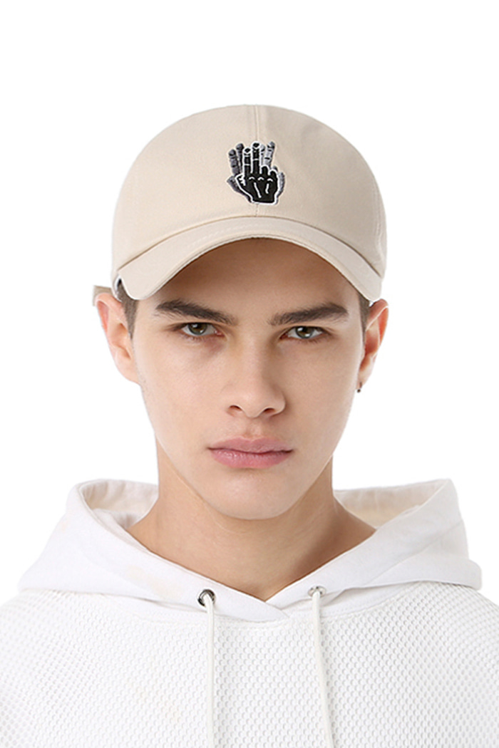 HAND SHAKE SIGN BALL CAP (BEIGE)