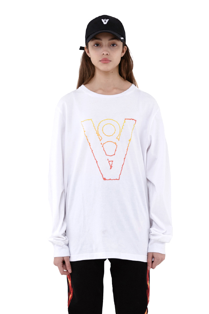 BLAZE LOGO LONG SLEEVE (WHITE)