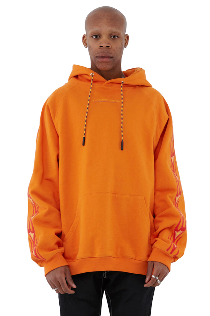 FLAME STITCH HOODIE (ORANGE)