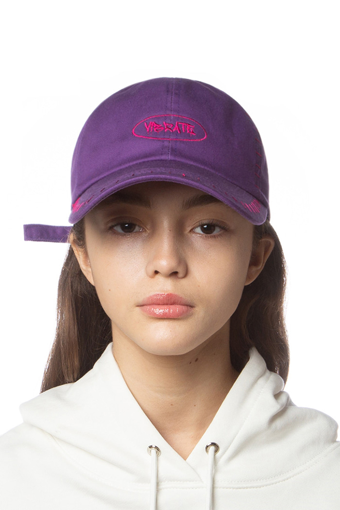 CIRCLE LOGO STITCH BALL CAP (PURPLE)