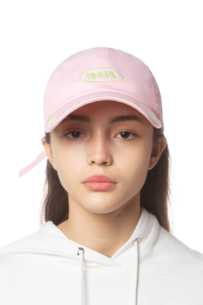 CIRCLE LOGO STITCH BALL CAP (PINK)