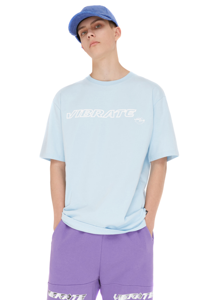 HAND DISC LOGO T-SHIRT (SKY BLUE)