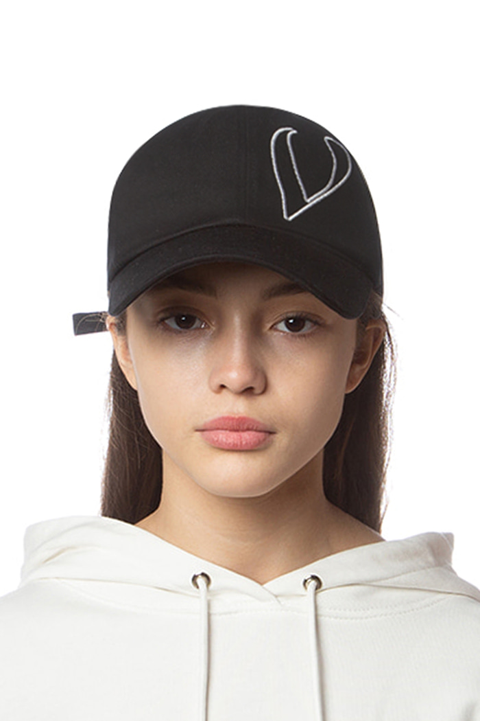 STITCH LOGO BALL CAP (BLACK)