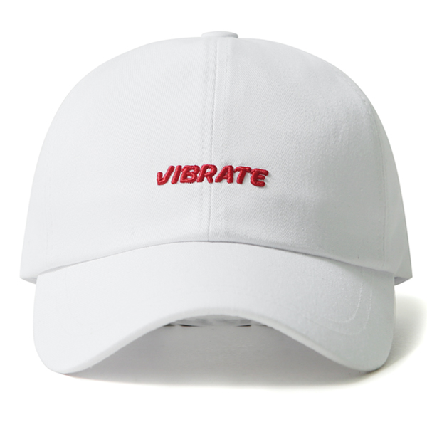 VIBRATE - 3D BASIC BALL CAP (red&white)