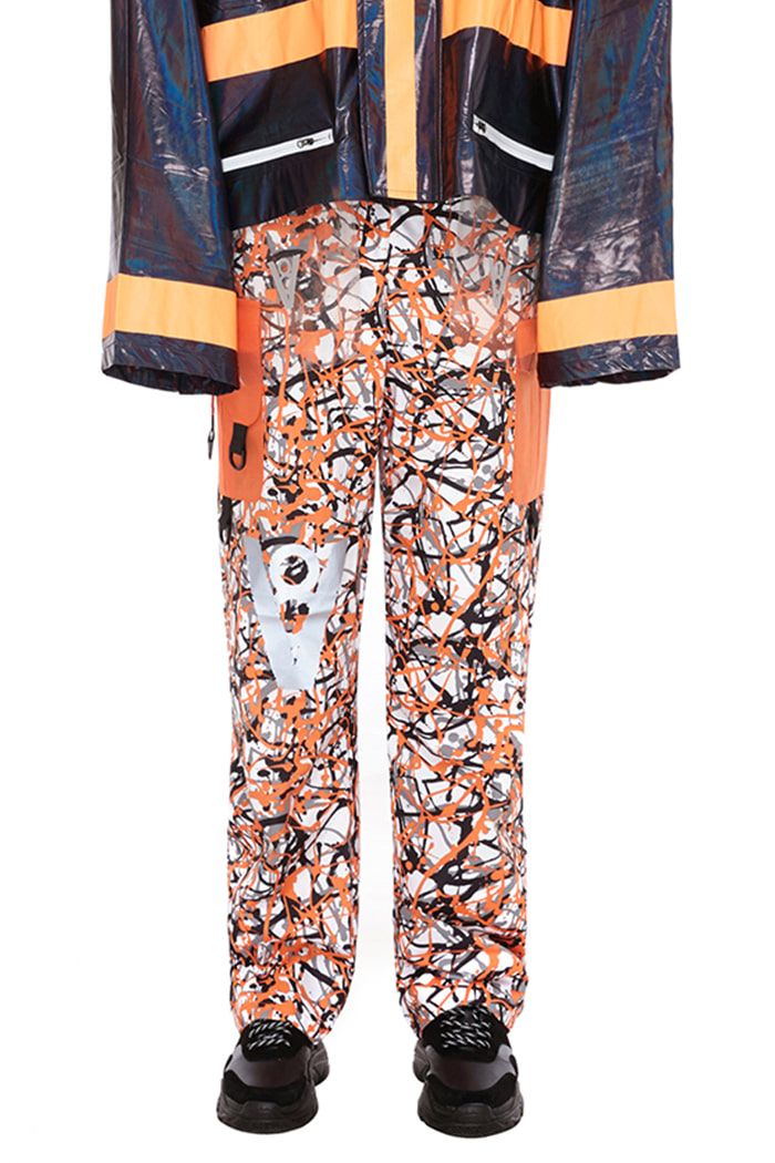 POCKET POINT PANTS (ORANGE CAMO)