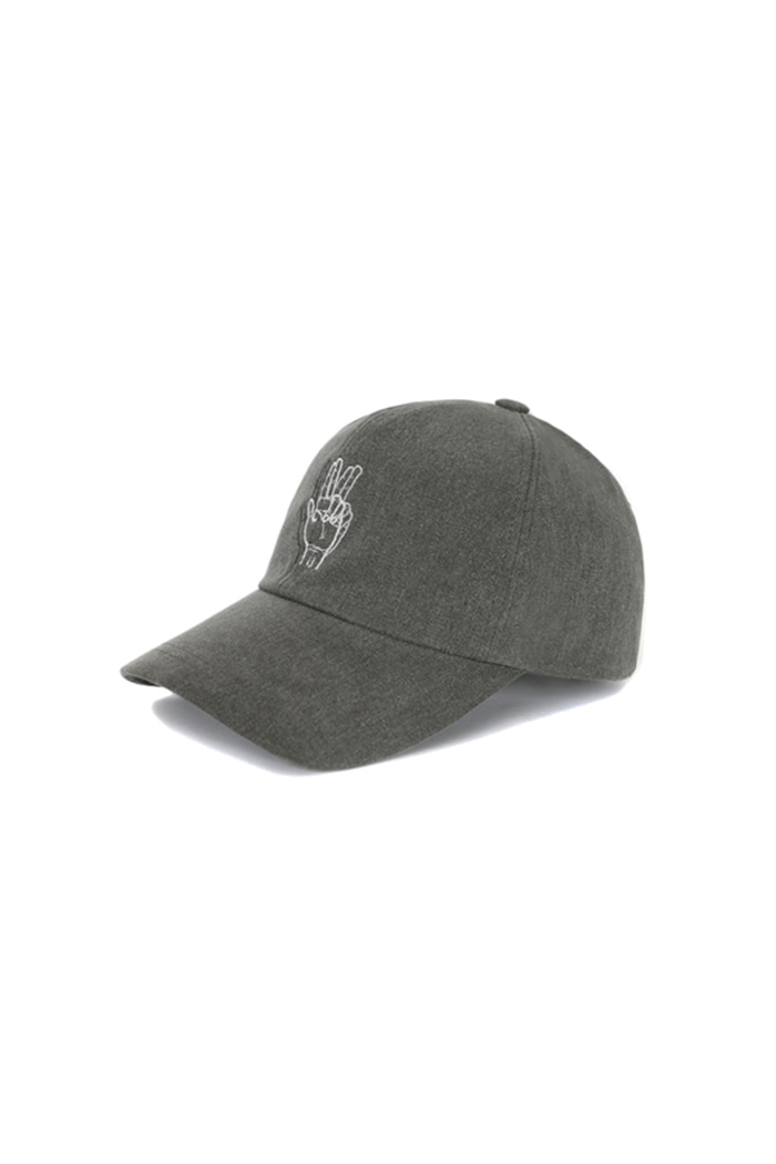 CLASSIC HAND SIGN BALL CAP (WASHING GRAY)
