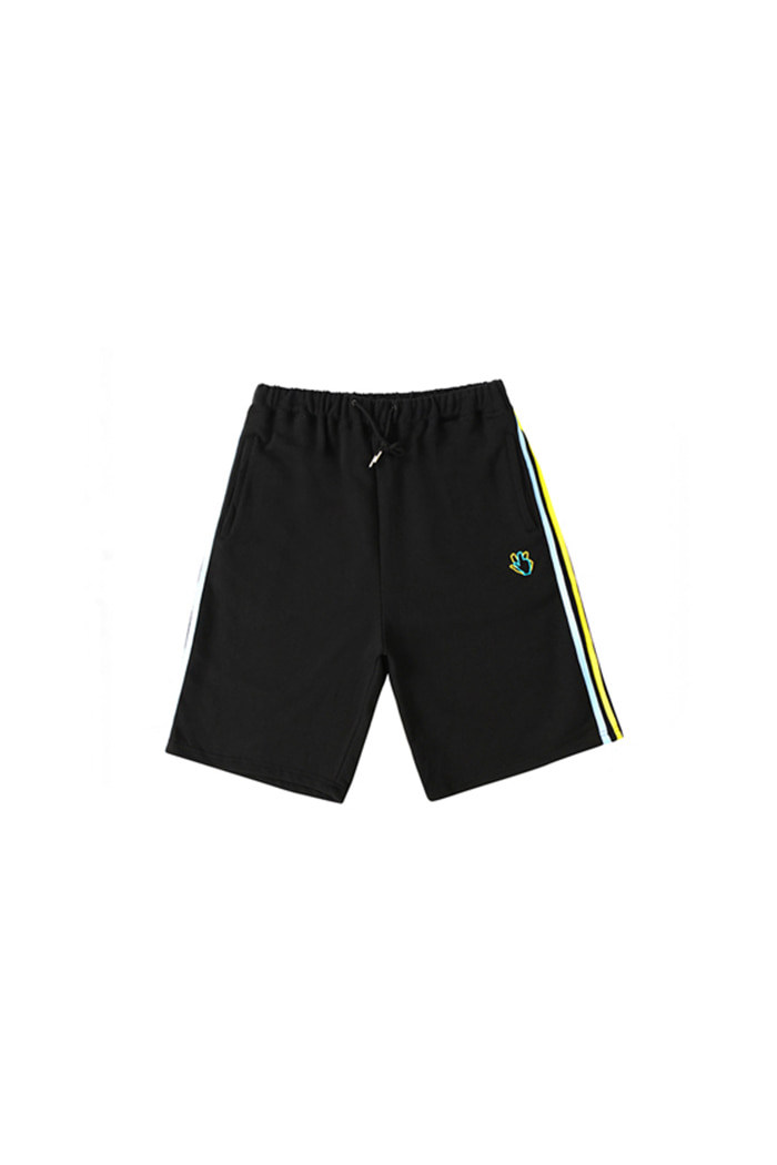 NEON HAND SIGN SHORT PANTS (BLACK)